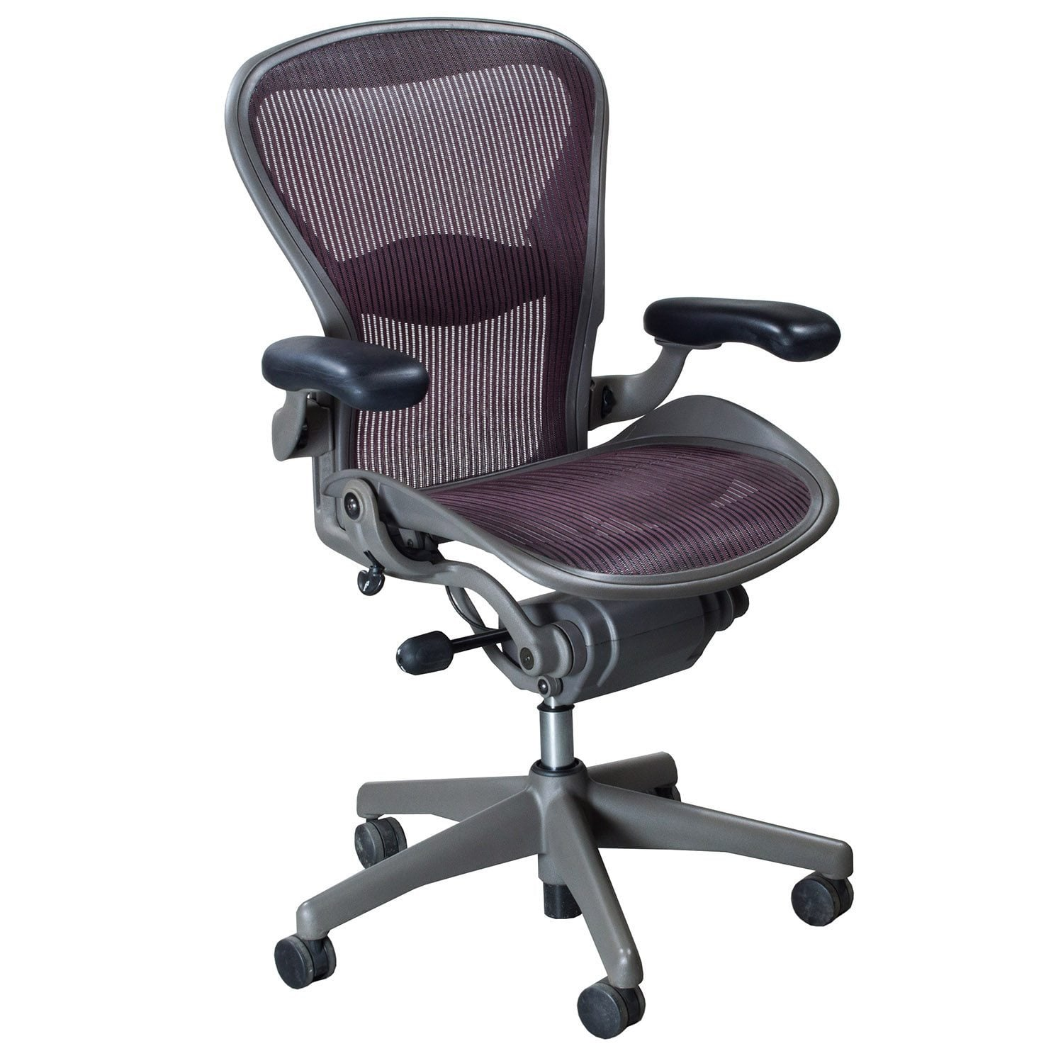 aeron chair sizes target brookline dining herman miller used size b task garnet