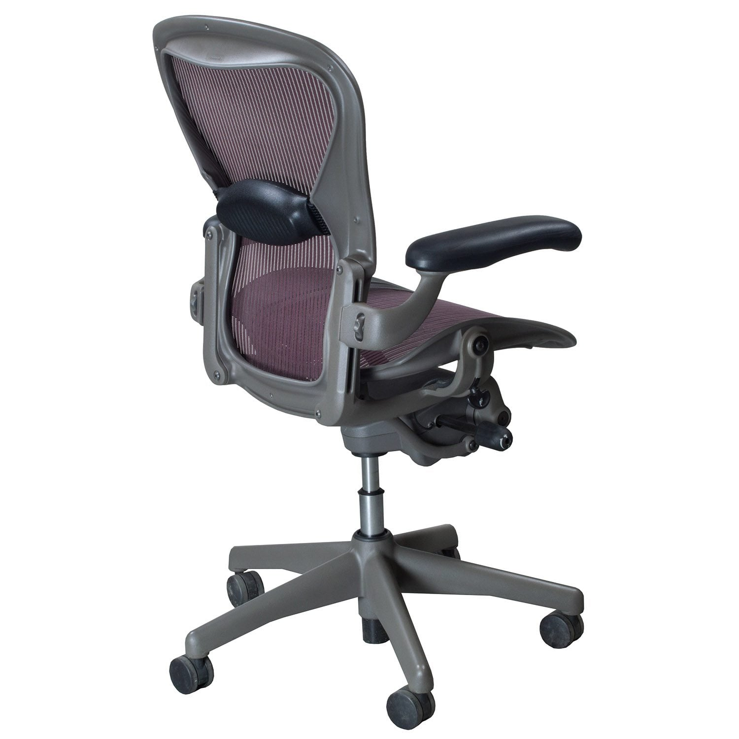 herman miller aeron chair size b reviews posture with ball task used