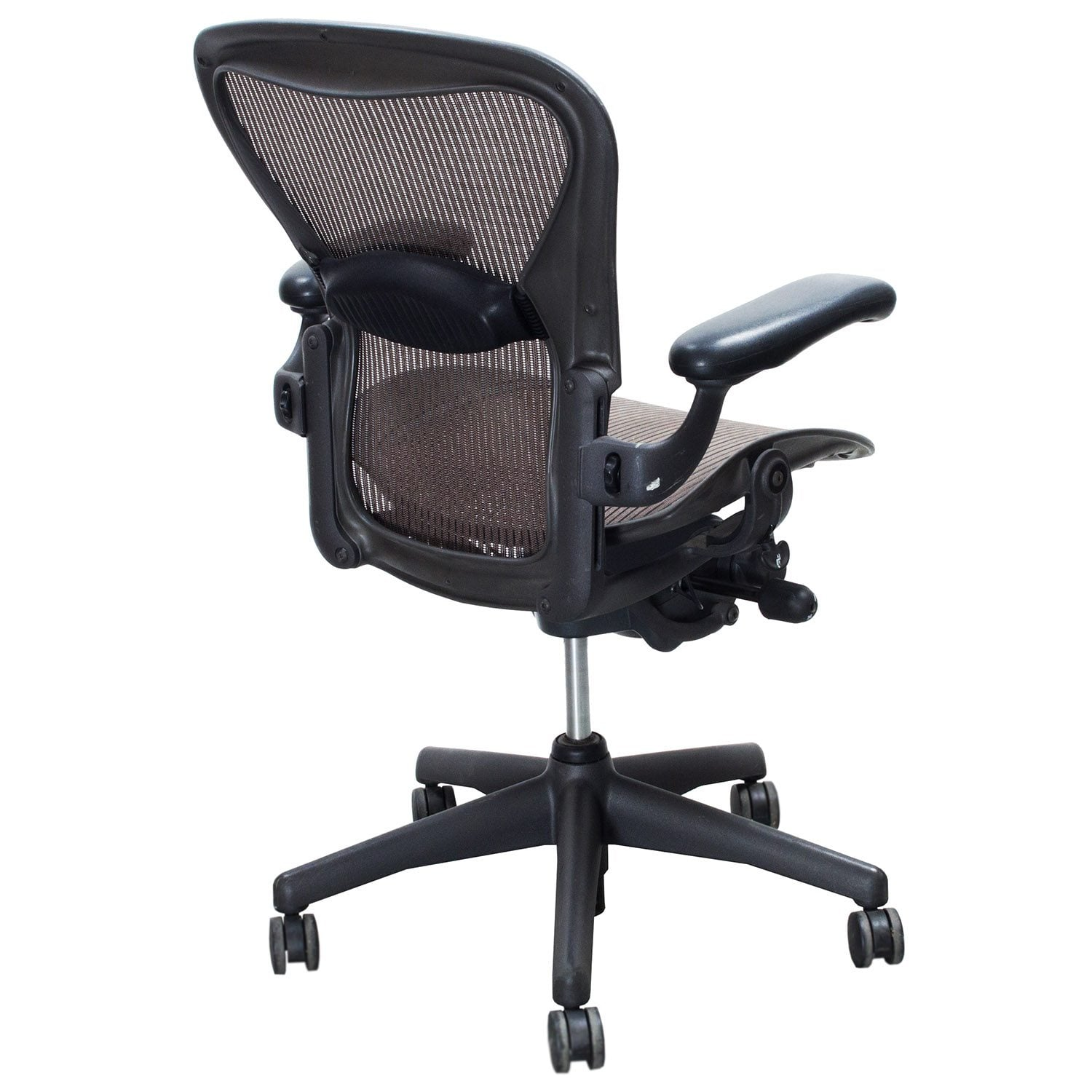 aeron chair used and stand optometry herman miller size b task soapstone