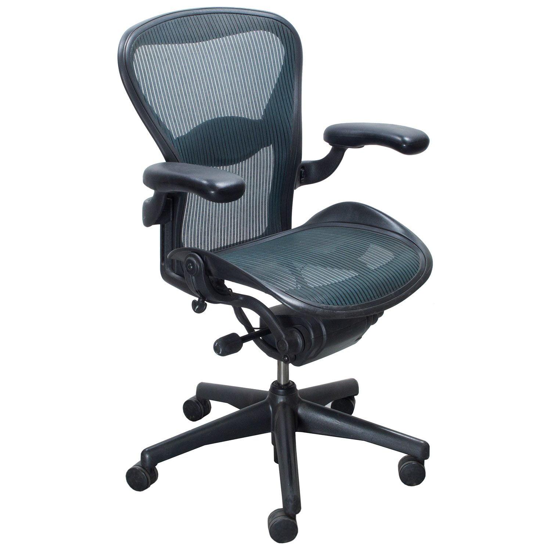 Herman Miller Aeron Used Size C Task Chair, Tourmaline