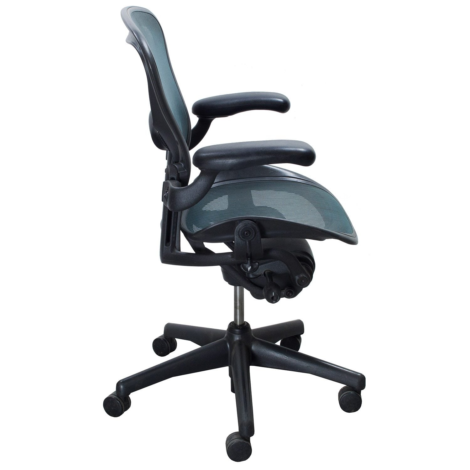 aeron chair sale upholstered wingback chairs herman miller used size b task tourmaline