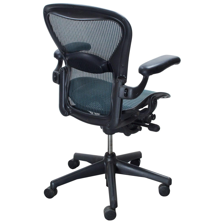 Herman Miller Aeron Used Size B Task Chair, Tourmaline