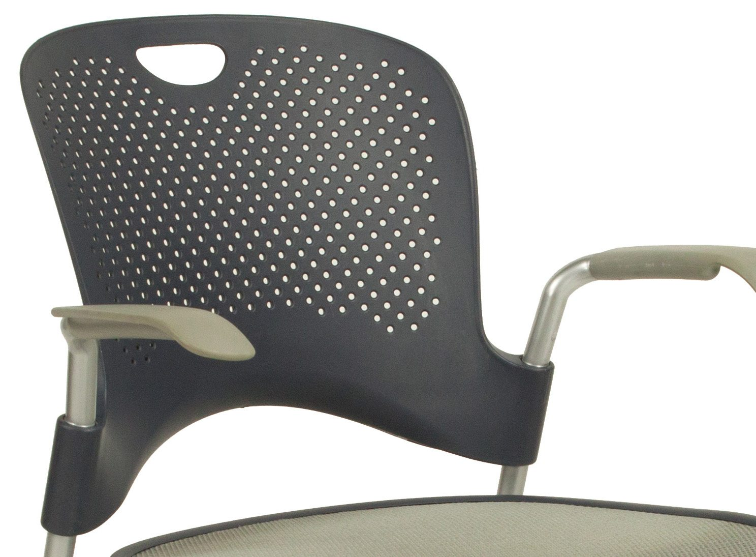 herman miller stacking chairs pb desk caper used chair gray national