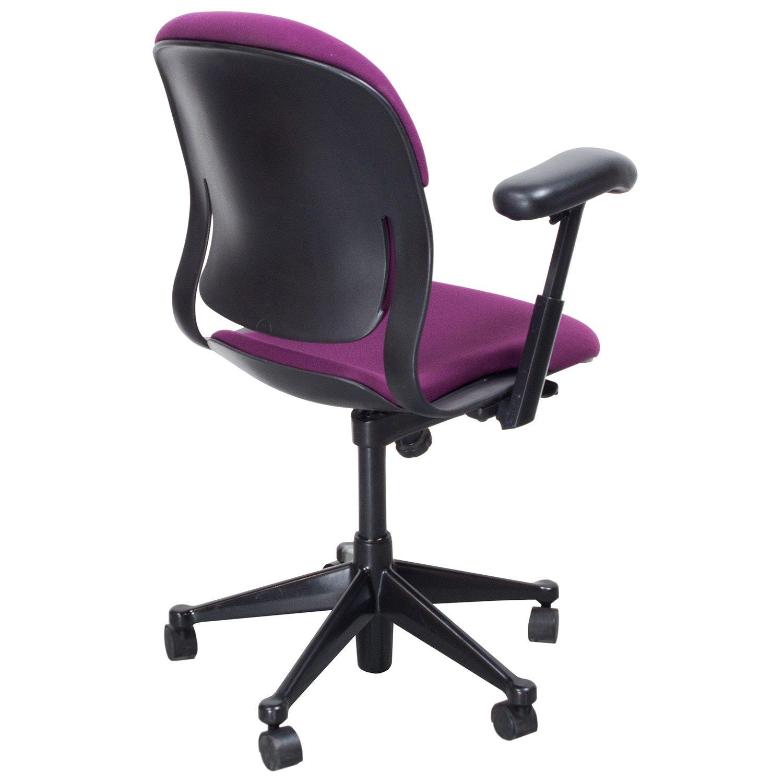 purple task chair pediatric shower commode herman miller used equa 1 fuchsia