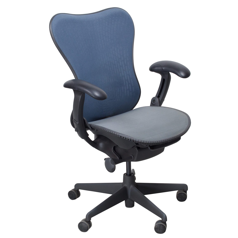 herman miller chair big round chairs mirra used mesh airweave seat task