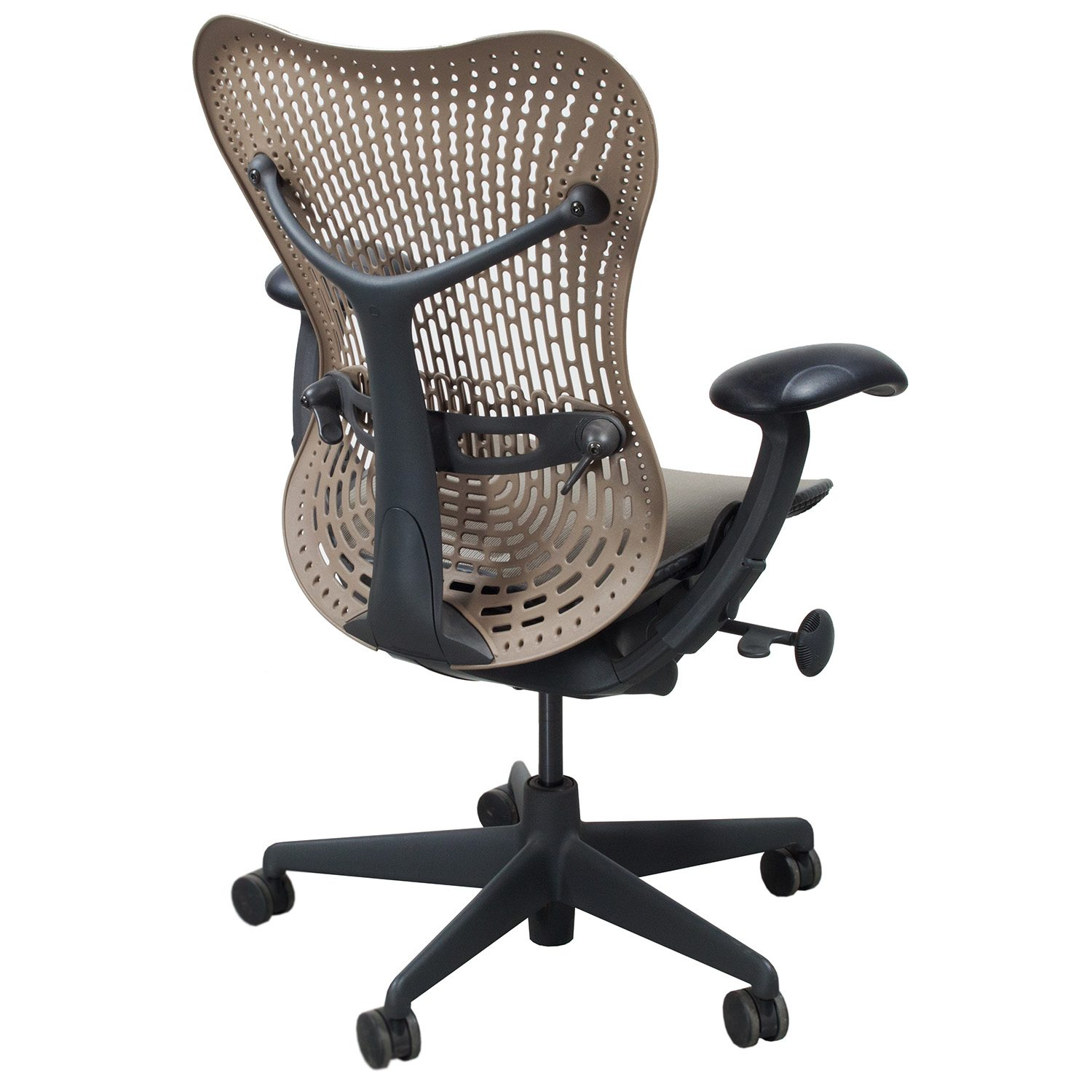 herman miller used office chairs french bistro table and uk mirra mesh airweave seat task chair