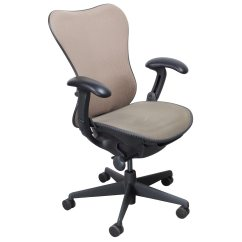 Herman Miller Used Office Chairs The Aeron Chair Mirra Mesh Task Cappuccino