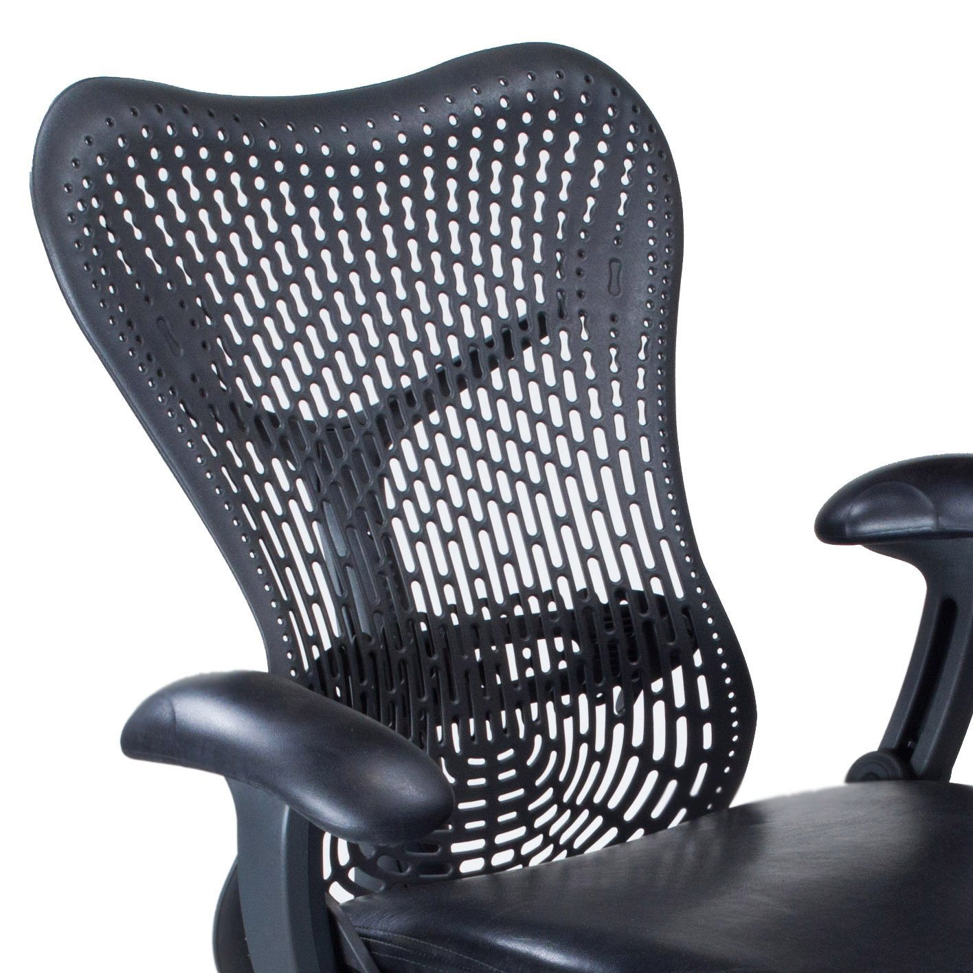 herman miller leather chair best office under 300 mirra used seat task black