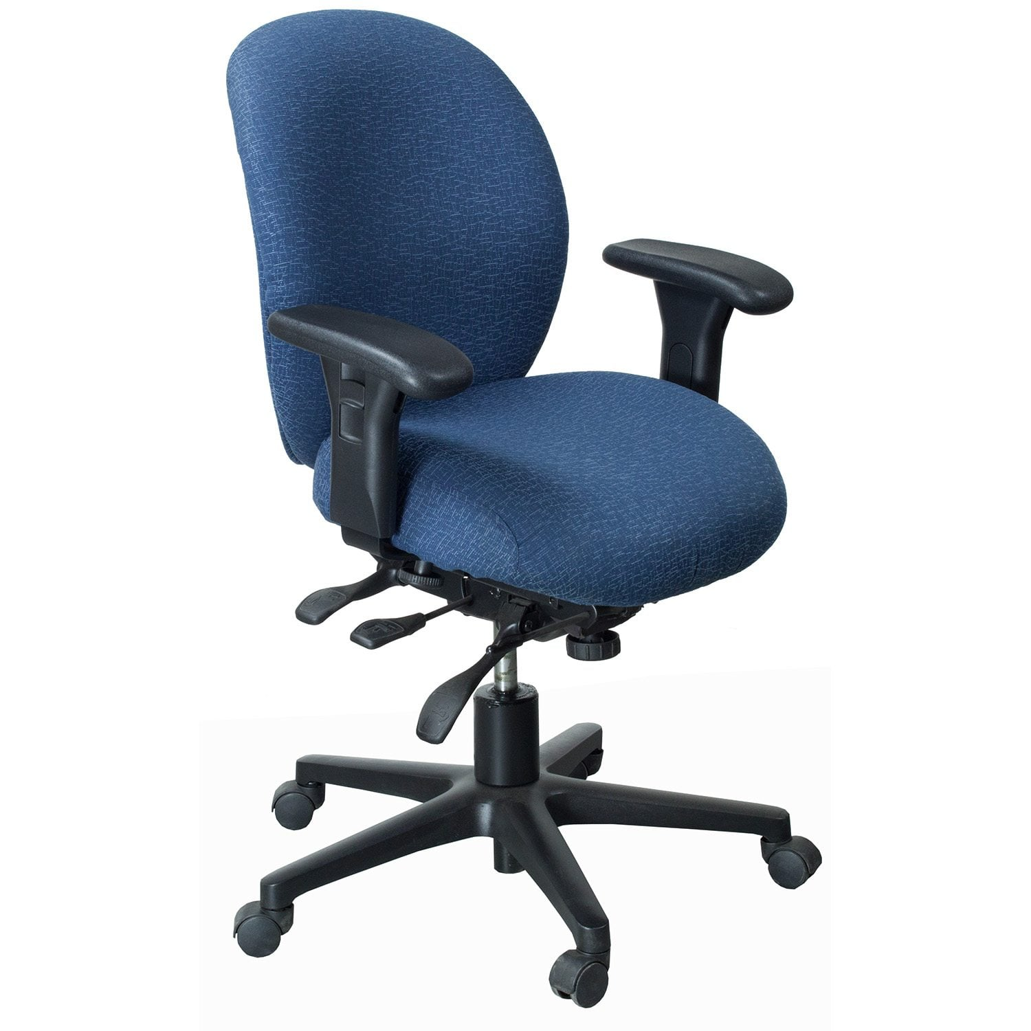 hon desk chairs patio for cheap unanimous 7600 series used mid back task chair blue