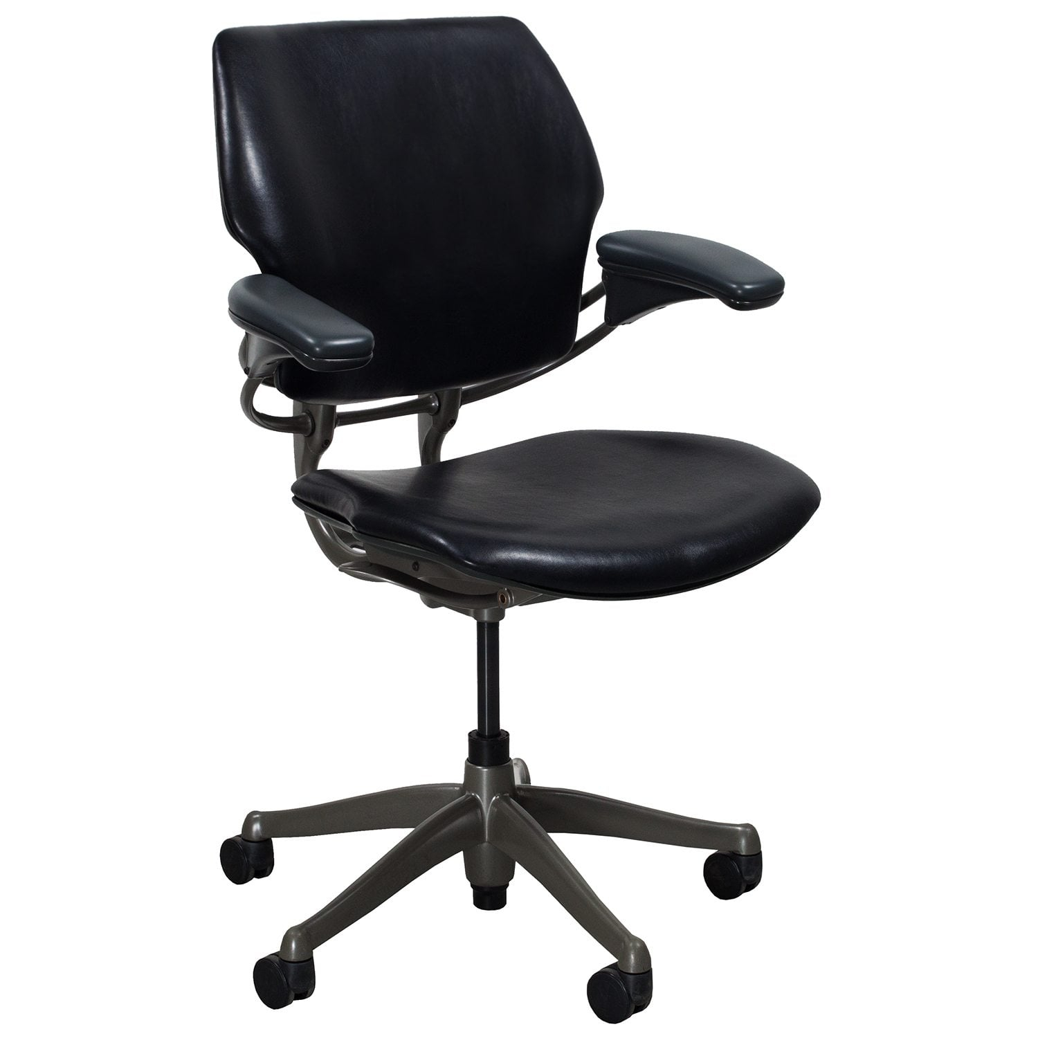 Humanscale Liberty Chair Humanscale Freedom Leather Used Task Chair Black