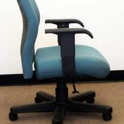 Teal Computer Chair Lumbar Support Knoll Bulldog Used Wide Midback Task