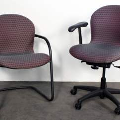 Knoll Rpm Chair Eames Lounge Legs Used Side Magenta National Office