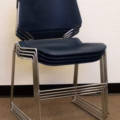 Krueger Folding Chairs Steel Chair Frame Suppliers Matrix Used Stack Blue National Office