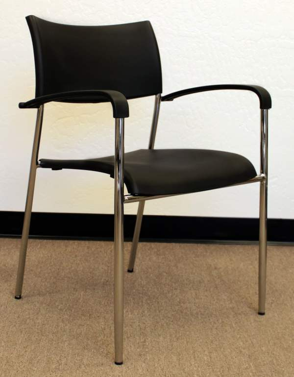 Offices Used Modern Stack Chair Black National