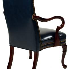 Kensington Leather Chair Fold Out Chairs Hancock And Moore Gooseneck Used Side