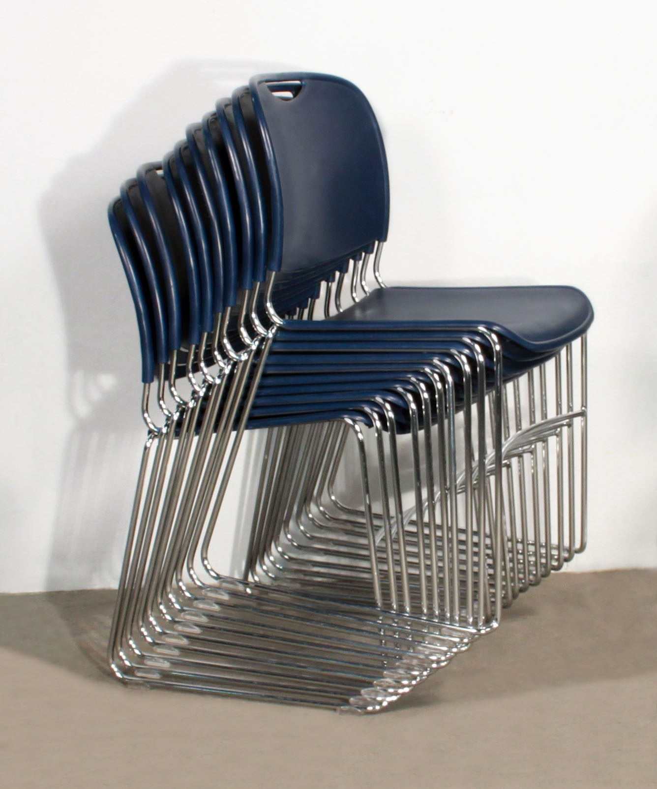 FSFG Hercules Used Stack Chair Blue  National Office