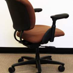 Xl Desk Chair Locking Wheels Haworth Improv Used Task Rust Print National