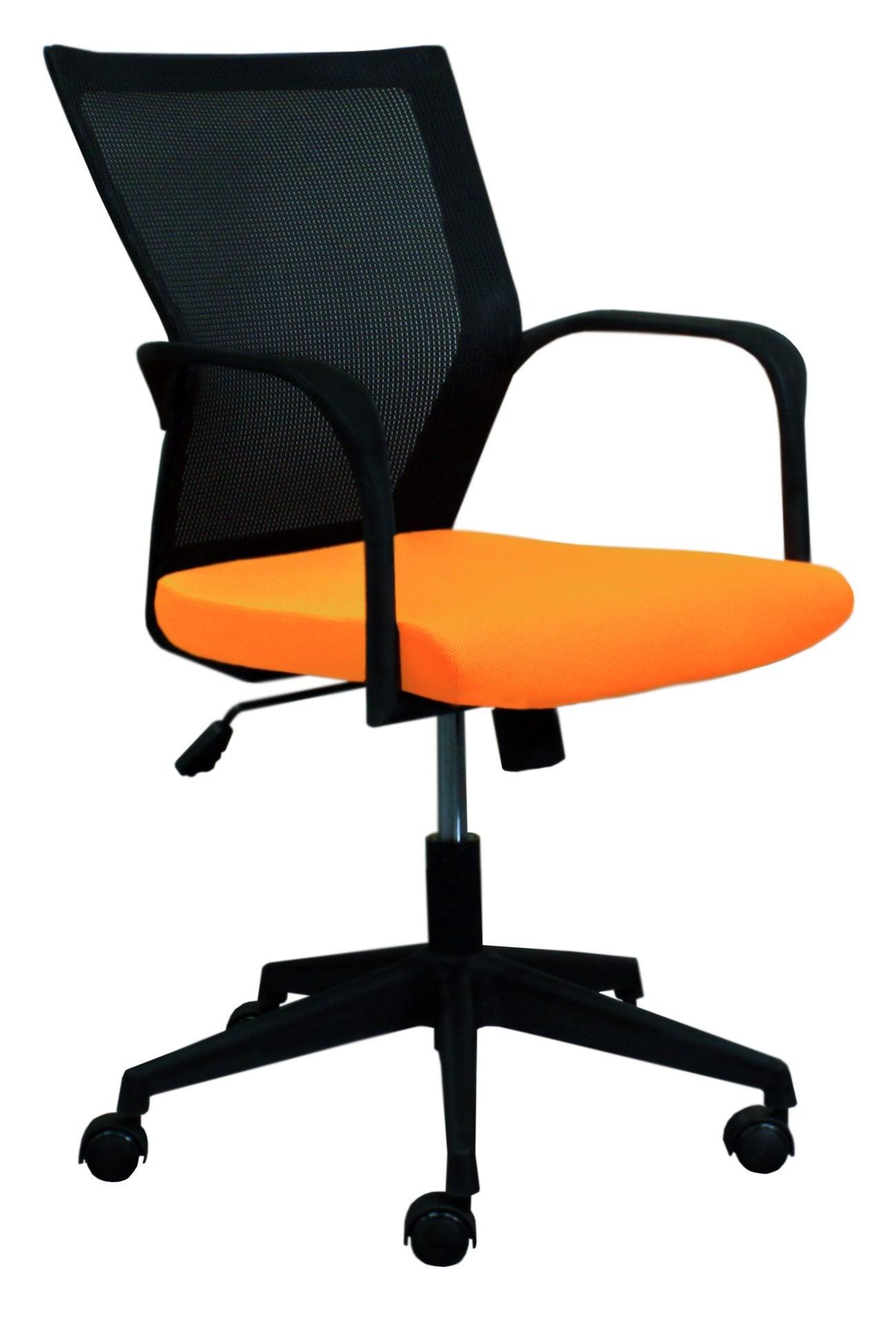 orange office chair rental utah bay by gosit mesh back task and black