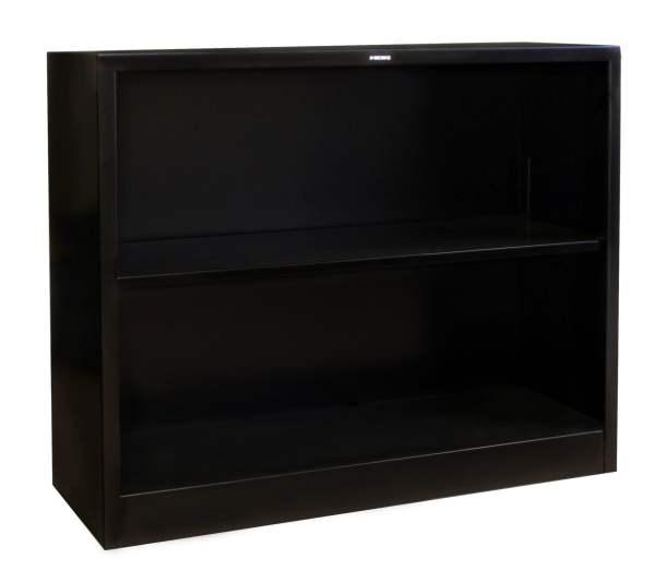 Hon Used Black 2 Shelf Metal Bookcase National Office