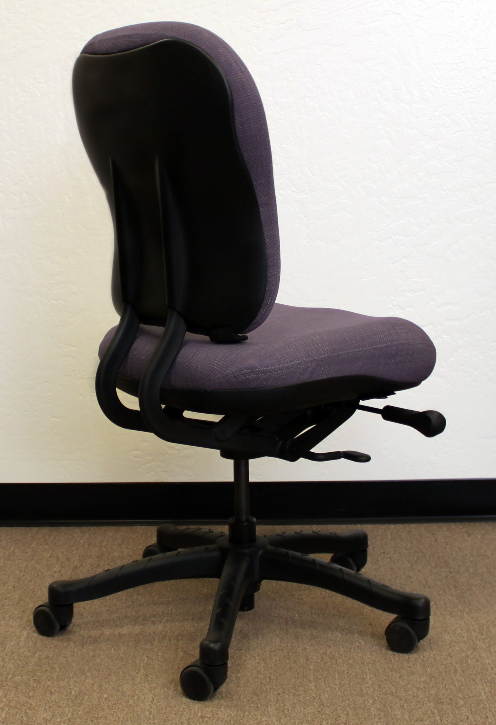knoll rpm chair universal covers ivory used ergonomic high back task purple