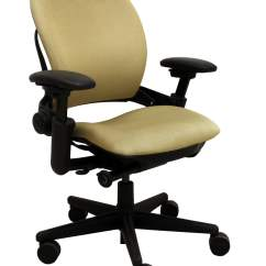 Steel Chair Gold Raz Shower With Tilt Steelcase Leap Used Task National Office