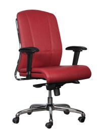 goSIT New Midback Leather Executive Chair, Red   National ...