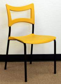 Amat 3 Imax Used Stacking Chair, Yellow | National Office ...