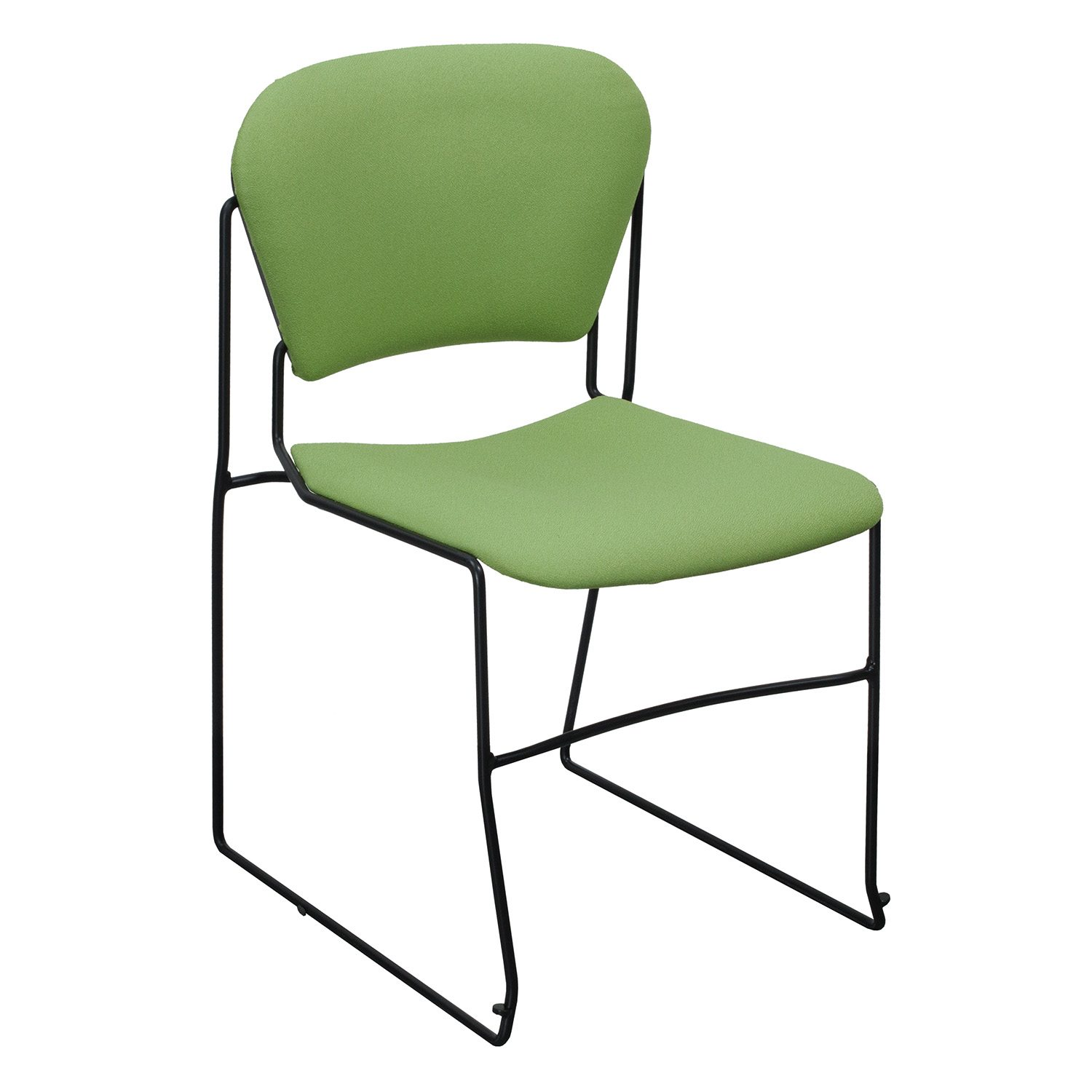 Ki Chairs Ki Perry Used Reupholstered Stack Chair Light Green