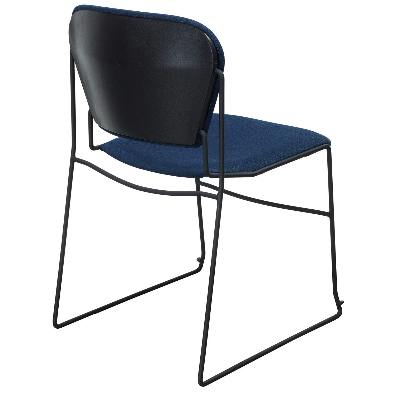 Ki Chairs Ki Perry Used Reupholstered Stack Chair Navy Blue