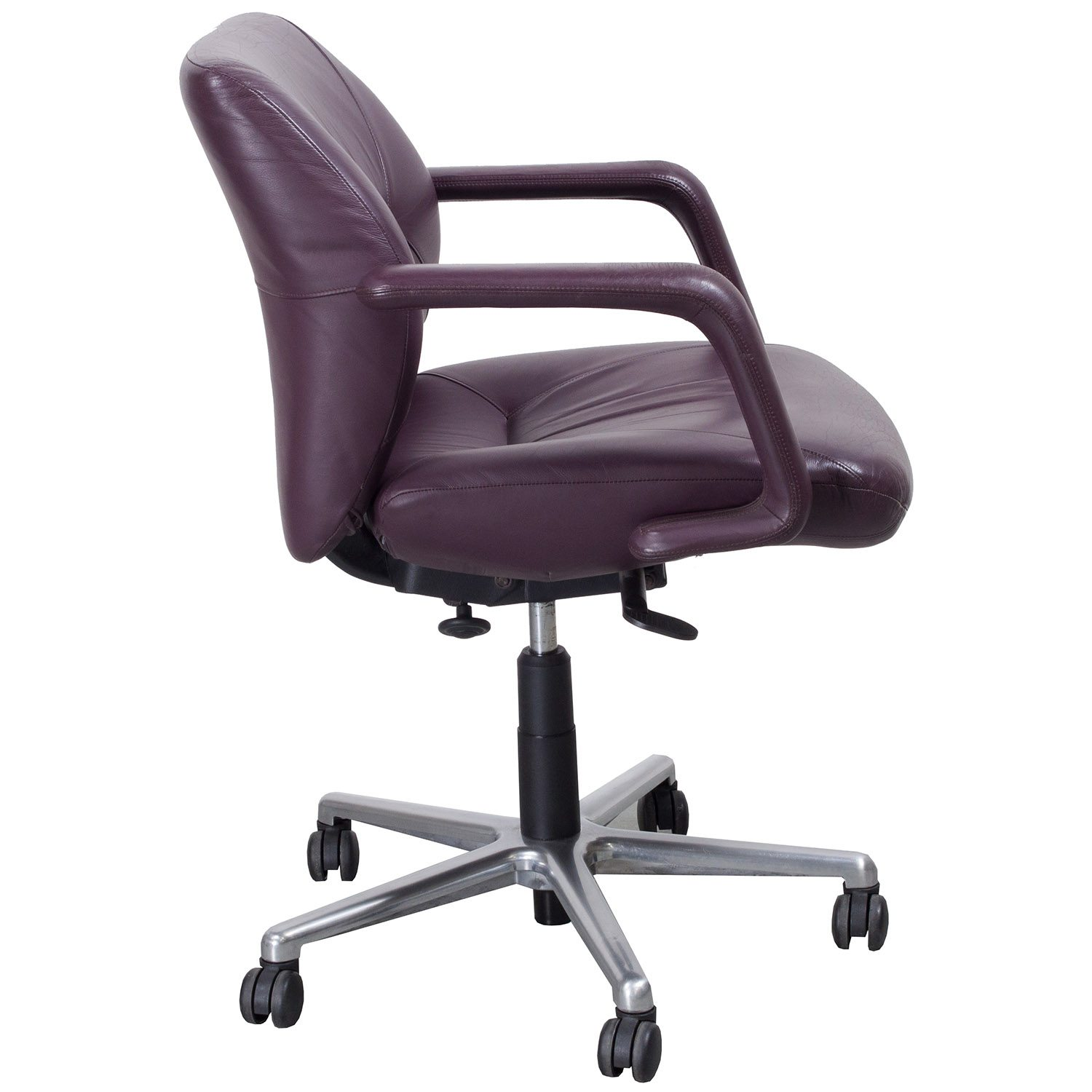 Low Back Chairs Keilhauer Respons Used Leather Managerial Low Back Chair