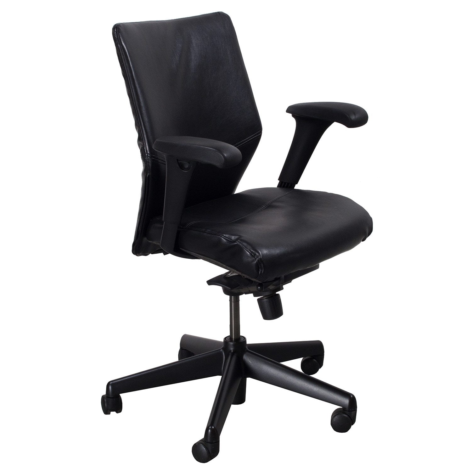 reupholster office chair back dxracer gaming uk keilhauer tom reupholstered used leather mid task