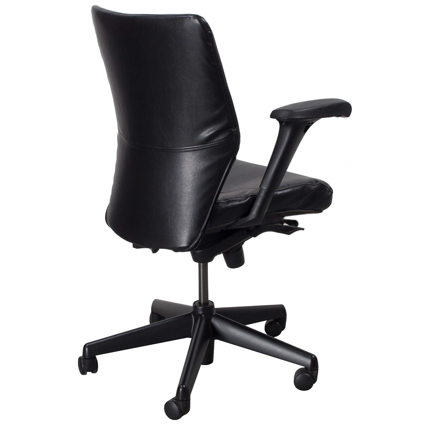 reupholster office chair back for barber keilhauer tom reupholstered used leather mid task