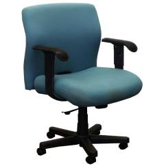 Teal Computer Chair Wingback Office Desk Knoll Bulldog Used Wide Midback Task
