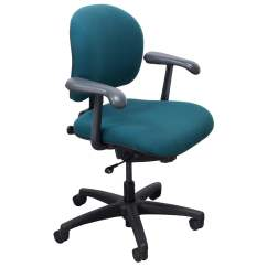 Aqua Desk Chair Swivel Without Wheels Knoll Parachute Used Task National Office