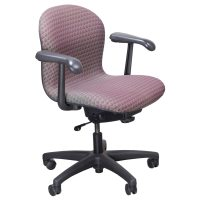 Knoll Used Parachute Task Chair, Magenta and Gray