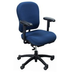 Knoll Rpm Chair Royal Blue Covers Used Ergonomic High Back With Seat Slider Task
