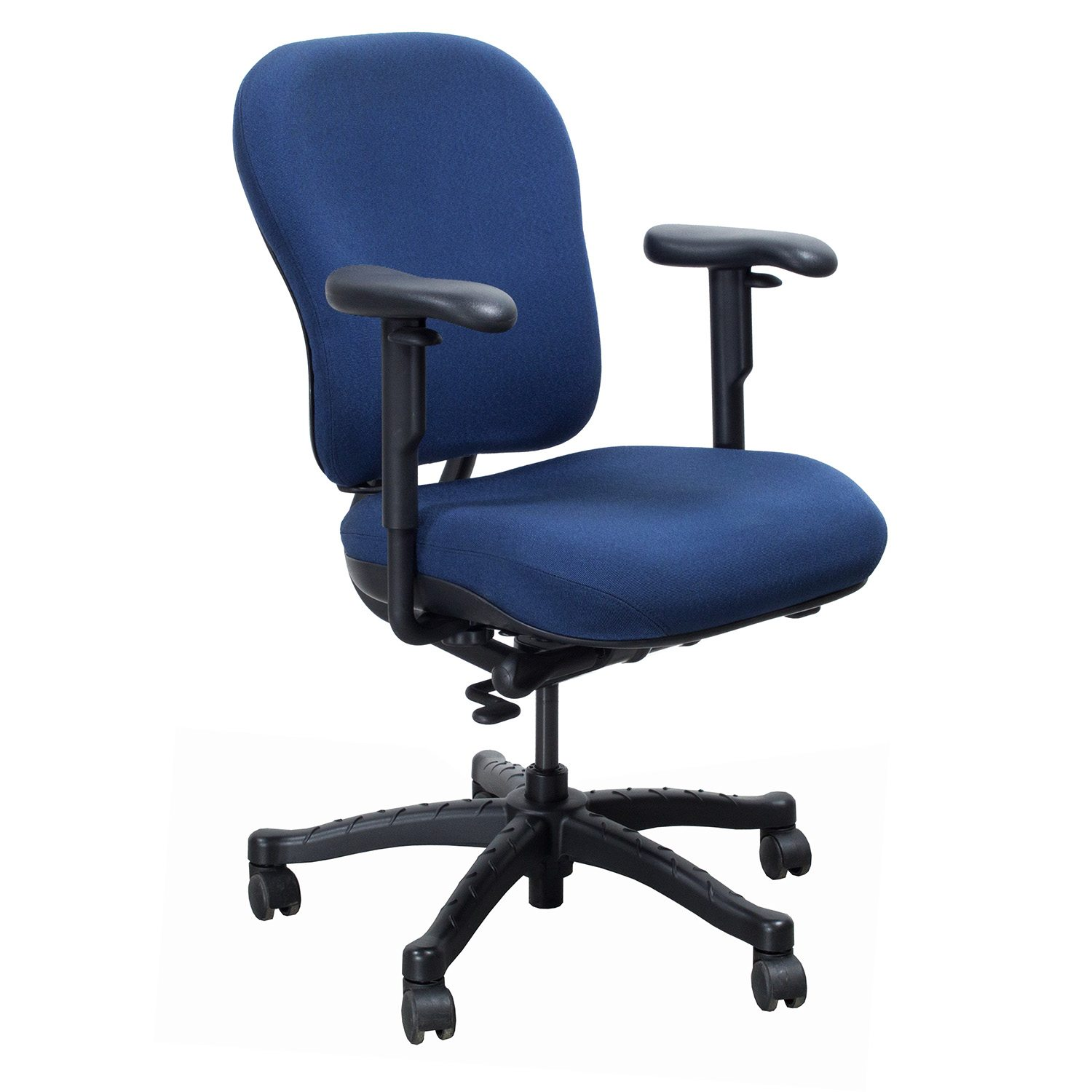 knoll rpm chair girl high used ergonomic back task blue