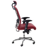 goSit New Midback Leather Executive Chair, Red