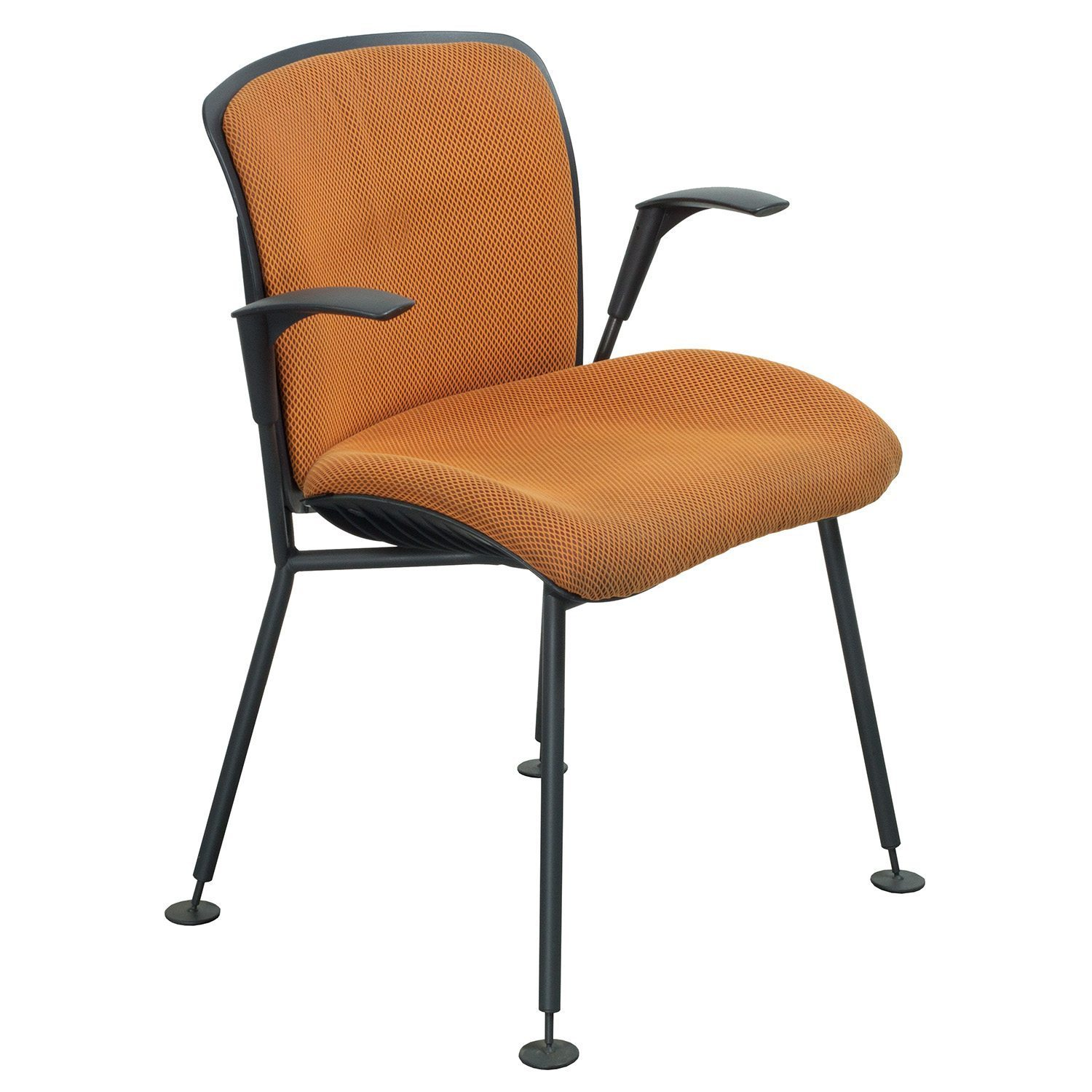 orange upholstered chair best baby rocking 2018 sitag used vito visitors