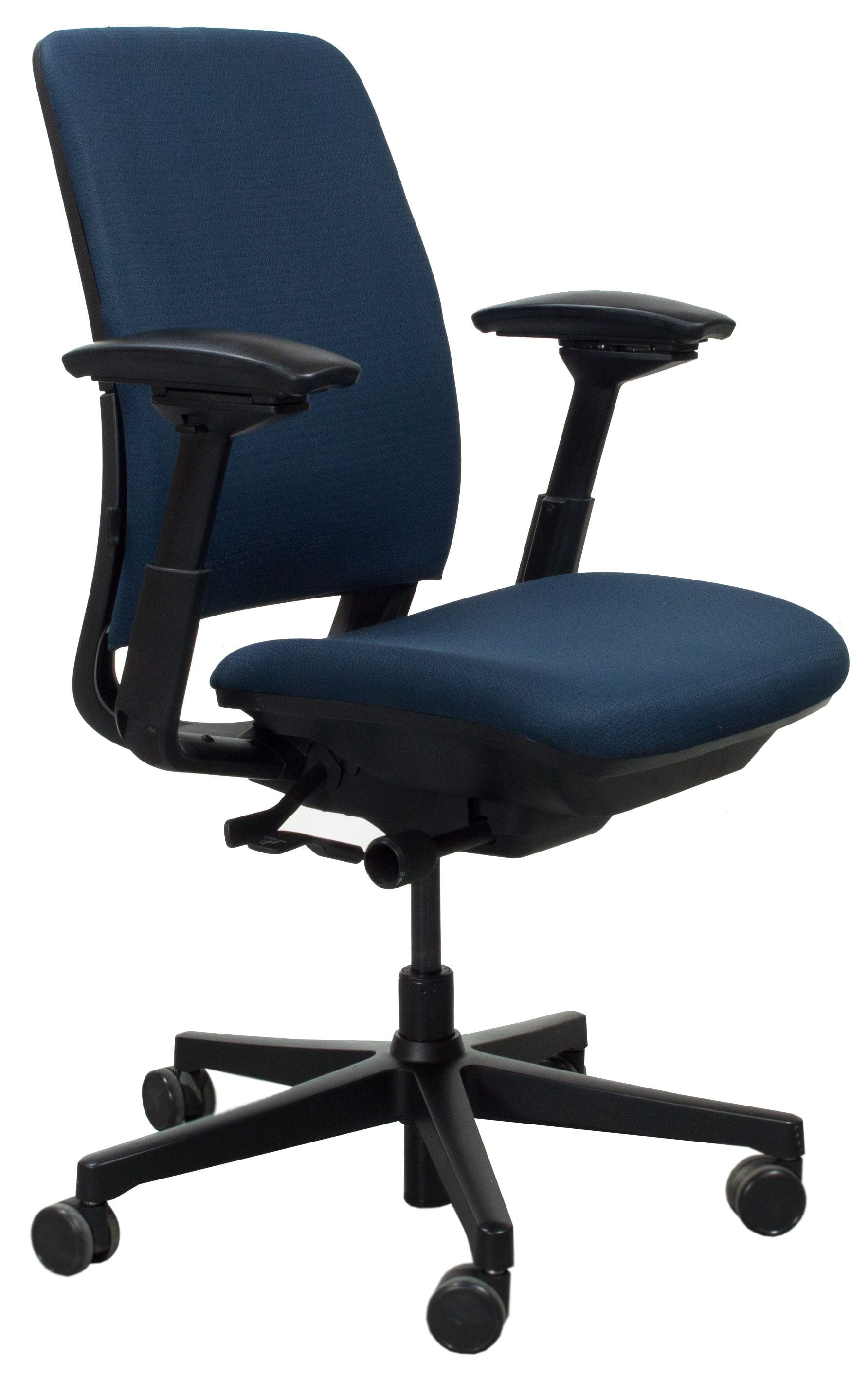Steelcase Chairs Steelcase Amia Used Task Chair Blue National Office