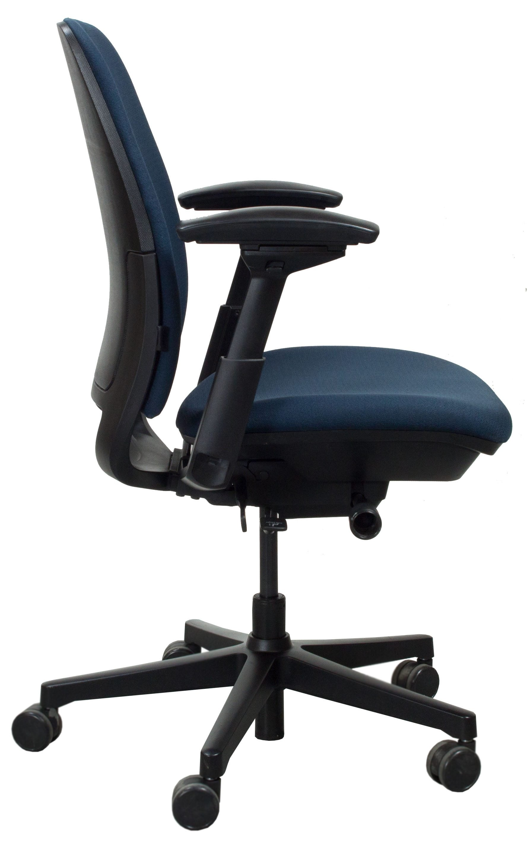 steelcase amia chair pottery barn rocking cover used task blue national office