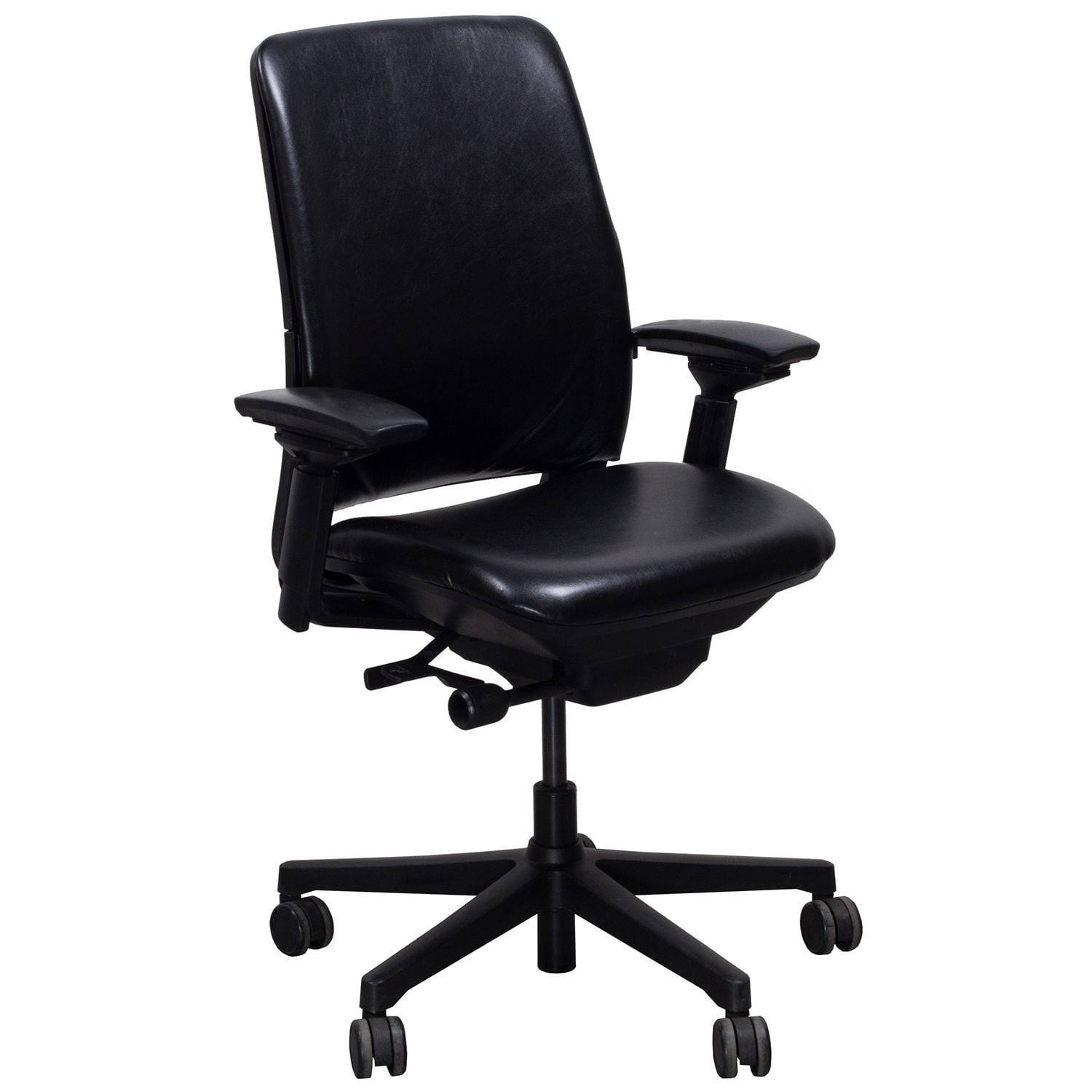 Steelcase Chairs Steelcase Amia Used Leather Task Chair Black National