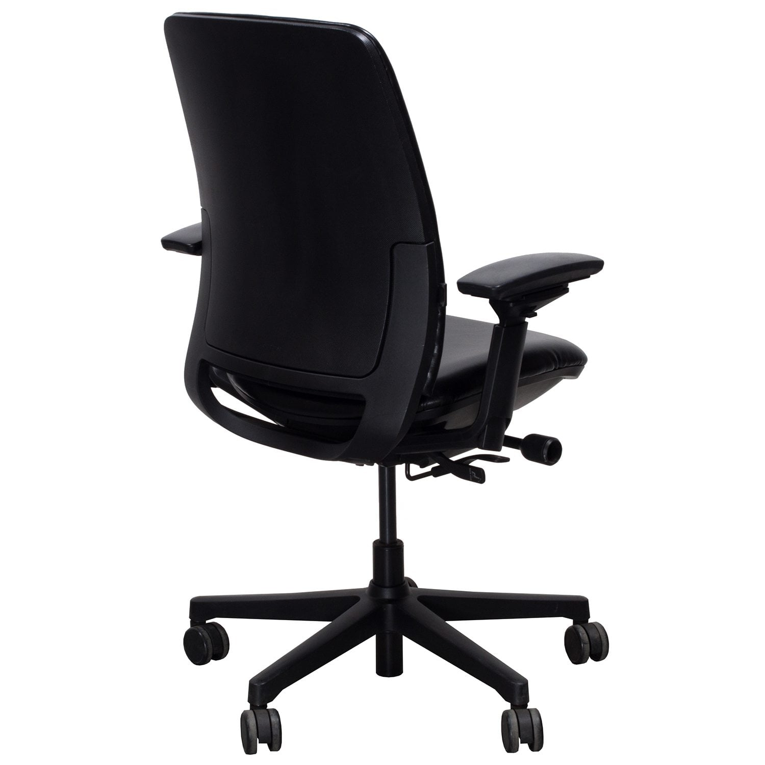 steelcase amia chair stackable resin chairs green used leather task black national