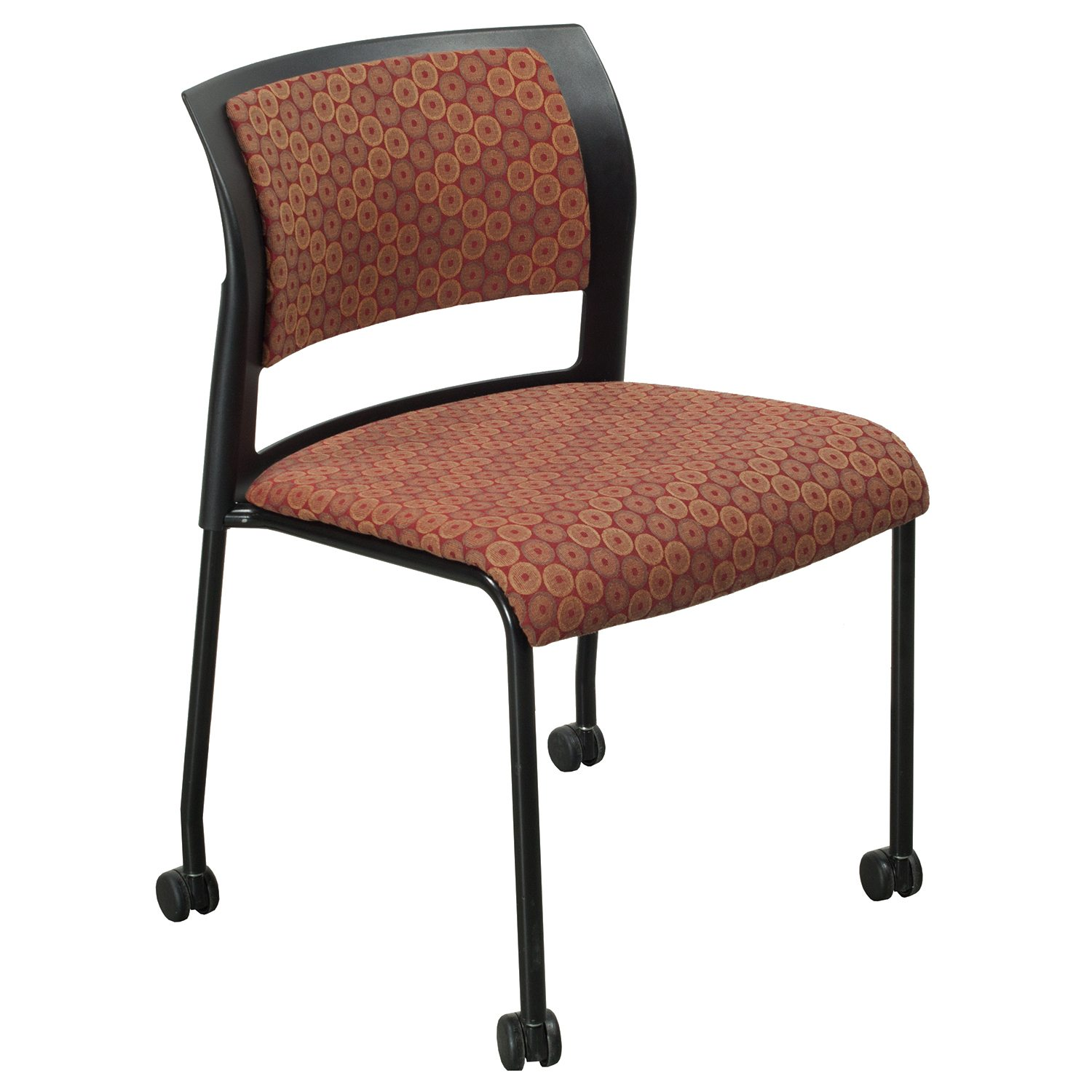 Steelcase Move Used Mobile Chair, Red Pattern