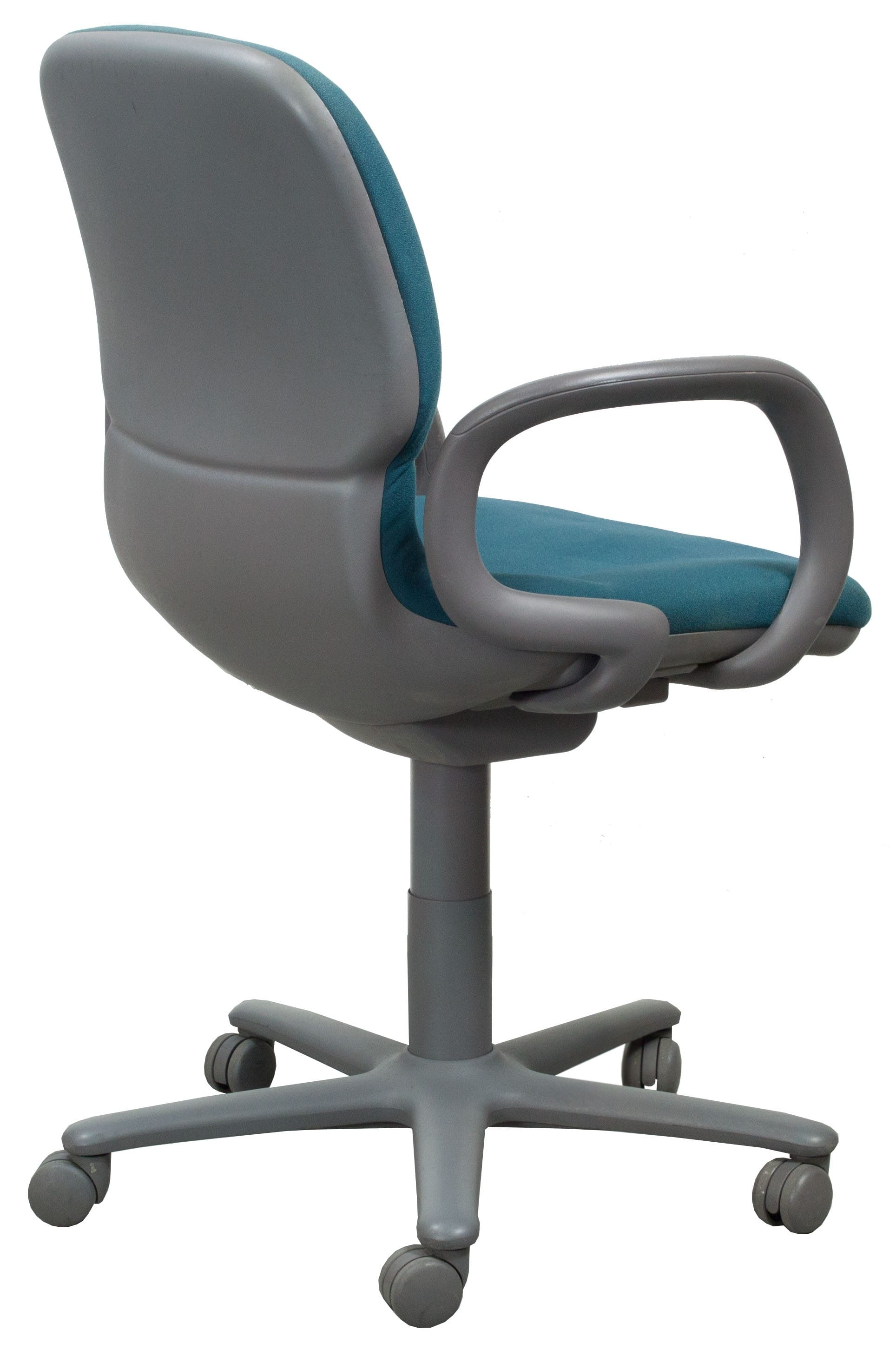 teal office chair tri fold beach steelcase sensor used mid back task national
