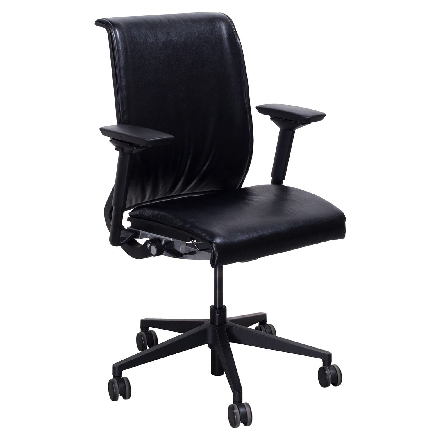 Steelcase Chairs Steelcase Think Used Leather Task Chair Black National