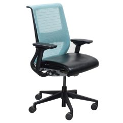 Office Chair Light Stand Quality Folding Chairs Steelcase Think Used Task Blue National