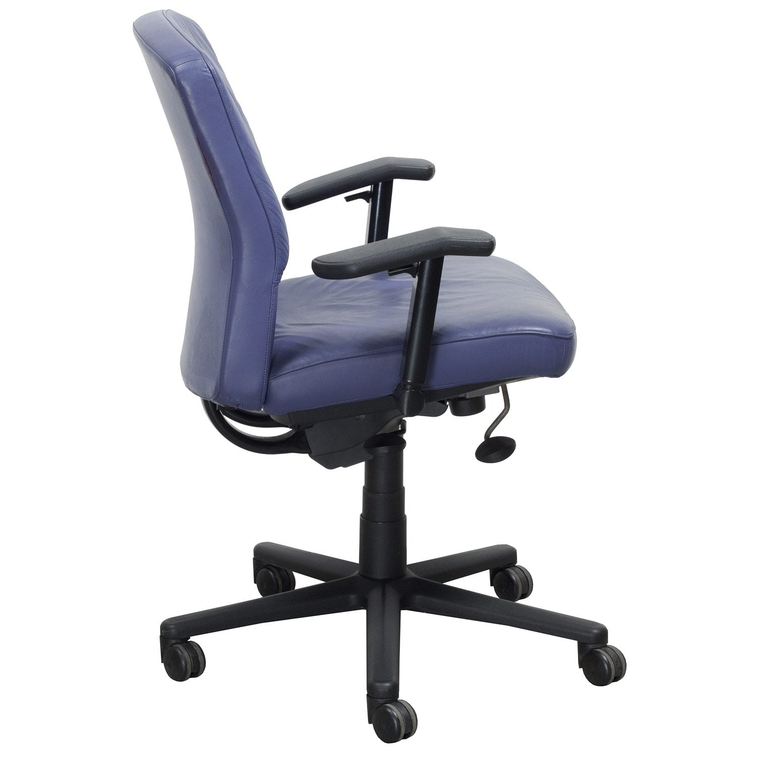 purple task chair ergonomic wirecutter steelcase vecta 4 o 39clock series used leather