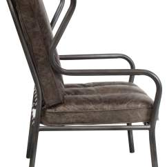 Distressed Leather Desk Chair Diy Metal Covers Gosit New Highback Side Whiskey