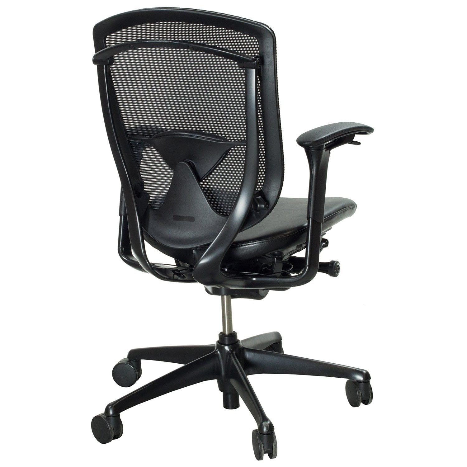 Contessa Chair Teknion Contessa Used Mesh And Leather Task Chair Black